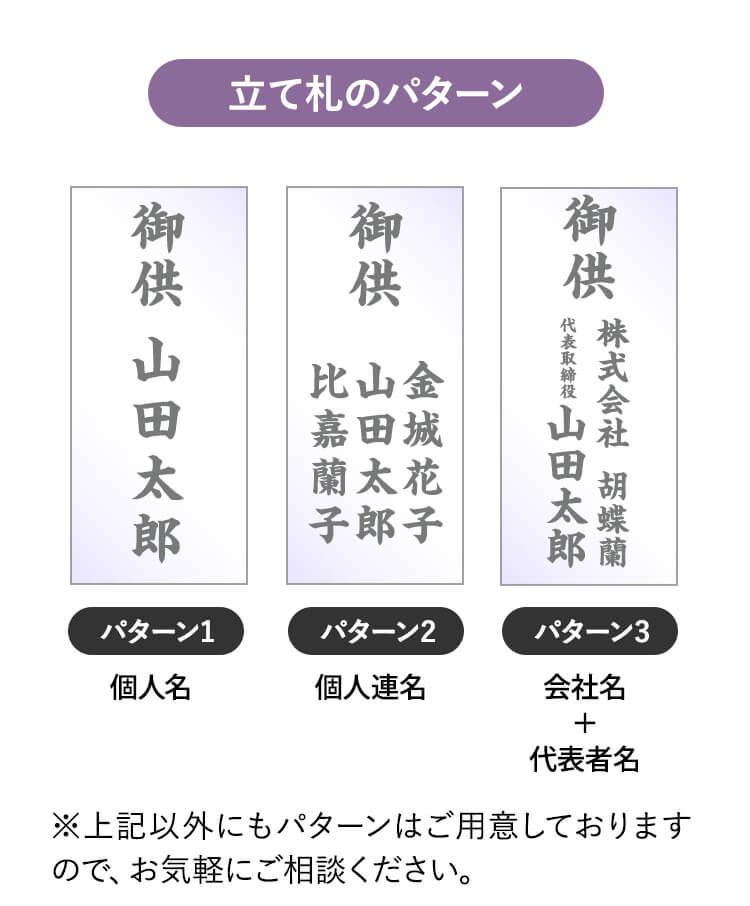 立て札のパターン1〜3