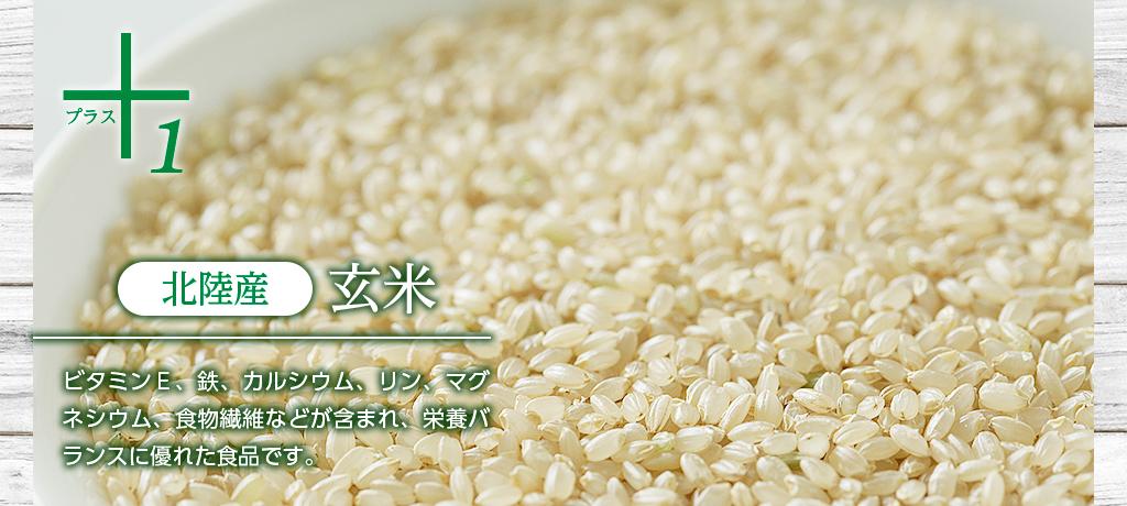 北陸産 玄米 ビタミンE、鉄、カルシウム、リン、マグネシウム、食物繊維などが含まれ、栄養バランスに優れた食品です。