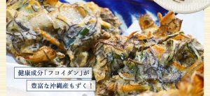 健康成分「フコイダン」が豊富な沖縄産もずく!