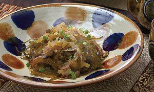パパイヤ千切りイリチャー(炒め煮)