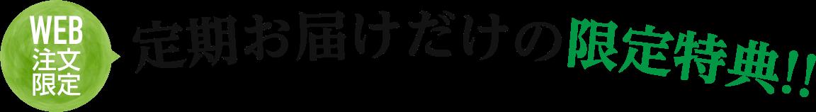WEB注文限定 定期お届けだけの限定特価!!
